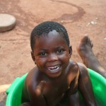 Baby Taking a Bath in Malawi