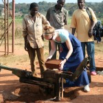 Volunteer Making Bricks In Malawi